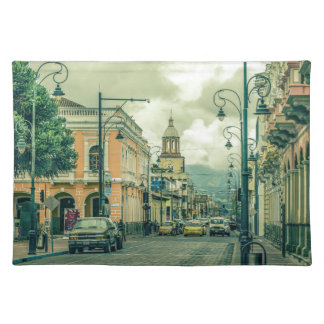 Historic Center Urban Scene at Riobamba City Placemat