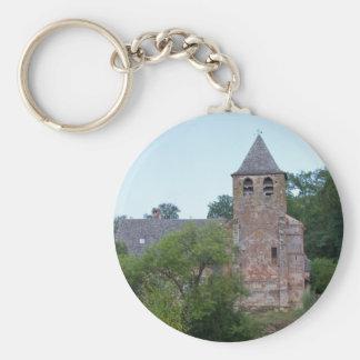 Historic Church Basic Round Button Key Ring