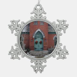 Historic Church Snowflake Ornament