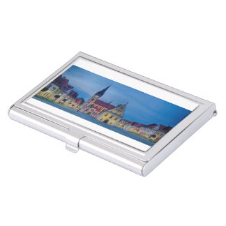 Historic city center of Bardejov in Slovakia Business Card Holder