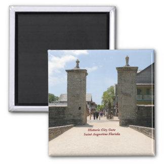 Historic City Gate Saint Augustine Fl... Square Magnet