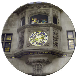 "Historic Clock 10.75"" Decorative Porcelain Plate"