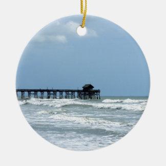 Historic Cocoa Beach Pier Ceramic Ornament