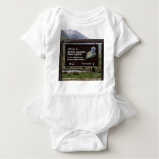 Historic Colorado mining country sign Baby Bodysuit