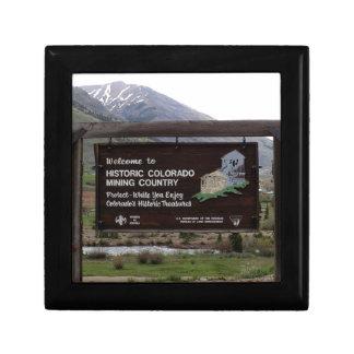 Historic Colorado mining country sign Gift Box