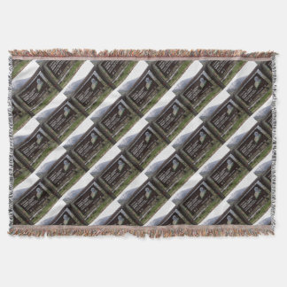 Historic Colorado mining country sign Throw Blanket