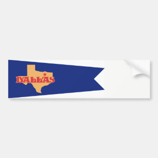Historic Dallas Flag bumper sticker