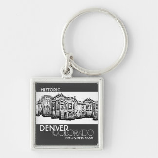 Historic Denver Colorado old town keychain