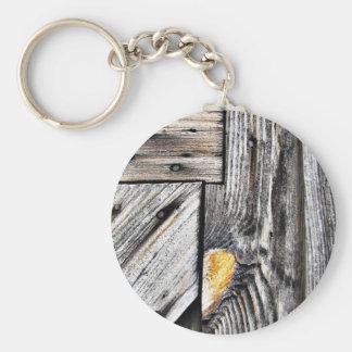 Historic Door Detail Basic Round Button Key Ring
