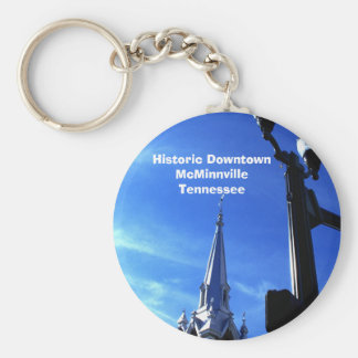 Historic Downtown McMinnville Basic Round Button Key Ring