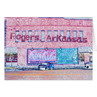 Historic Downtown Rogers, AR Card