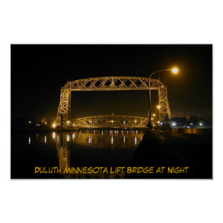 Historic Duluth Minnesota Lift Bridge Poster