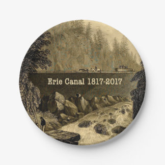 Historic Erie Canal Bicentennial Years Paper Plate