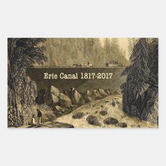 Historic Erie Canal Bicentennial Years Rectangular Sticker