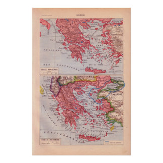 Historic Greece, Ancient and historic Poster