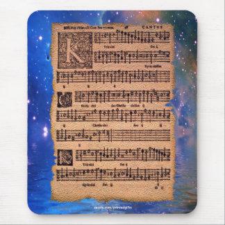 Historic Gregorian Chant Sheet Music Mousemat