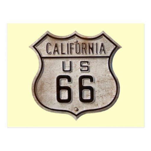 Historic Highway Road Sign Postcard