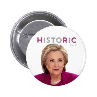 HistoRiC Hillary Clinton for President Button