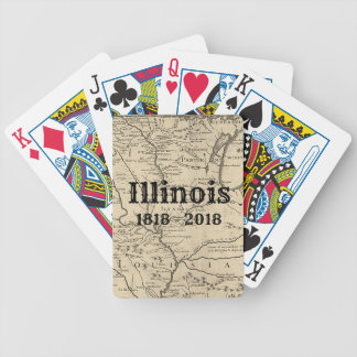 Historic Illinois Bicentennial Bicycle Playing Cards