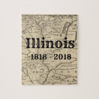 Historic Illinois Bicentennial Jigsaw Puzzle