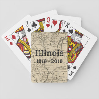 Historic Illinois Bicentennial Playing Cards