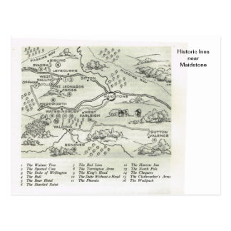 Historic Inns near Maidstone Postcard