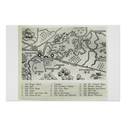 Historic Inns of Kent, Map of North Kent, Posters