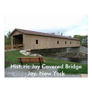 Historic Jay Covered Bridge Postcard