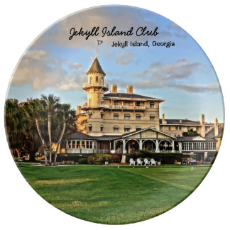 Historic Jekyll Island Club in Georgia Lowcountry Plate
