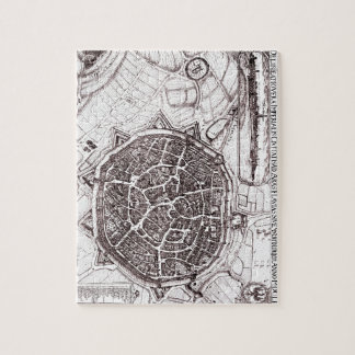 Historic Map Of Nordlingen, Germany In 1651 Puzzle