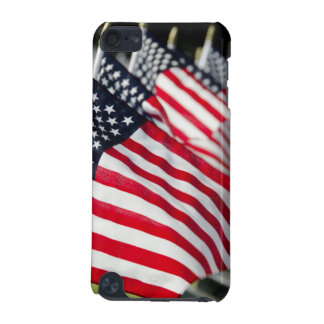 Historic military cemetery with US flags iPod Touch (5th Generation) Cover
