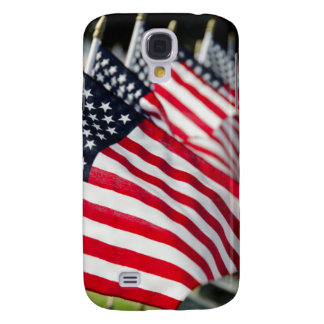 Historic military cemetery with US flags Samsung Galaxy S4 Cases