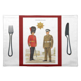 Historic military Uniforms, Coldstream Guards Place Mats