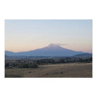 Historic Mount Shasta Volcano Photograph