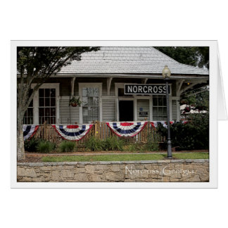 Historic Norcross Ga: Train Depot 3rd of July Card