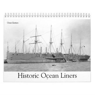 Historic Ocean Liners Calendars