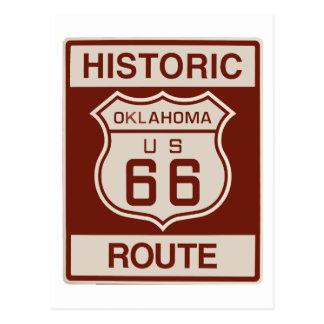 Historic Oklahoma RT 66 Postcard