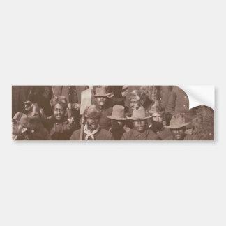 Historic photograph Buffalo Soldiers 25th Regiment Bumper Sticker