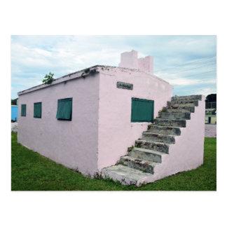 Historic Pink Bahamas Jail, Green Turtle Cay Postcard