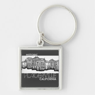 Historic Placerville California old town keychain