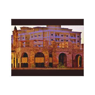 Historic Port Building Canvas Print