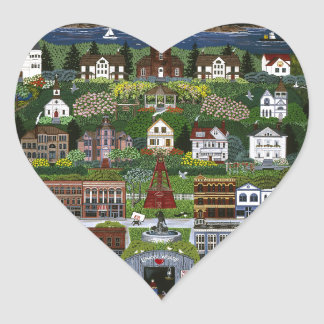 Historic Port Townsend, Washington Heart Sticker