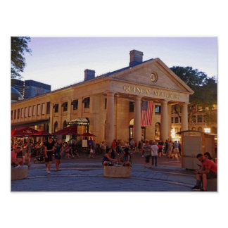 Historic Quincy Market Downtown Boston Poster