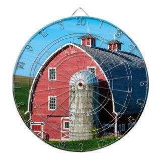 Historic Red Barn - Palouse Region - Washington Dart Board