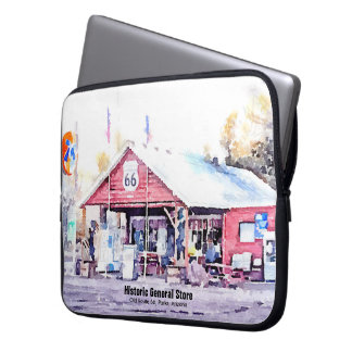 Historic Route 66 Arizona General Store Watercolor Computer Sleeves