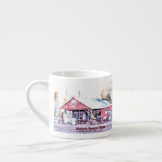 Historic Route 66 Arizona General Store Watercolor Espresso Cup