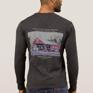 Historic Route 66 Arizona General Store Watercolor T-Shirt