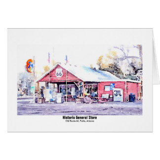 Historic Route 66 General Store Watercolor Card