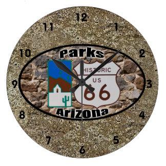 Historic Route 66 ~ Parks, Arizona Large Clock