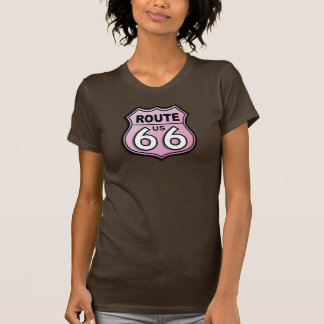 Historic Route Sixty-Six Pink T-shirts